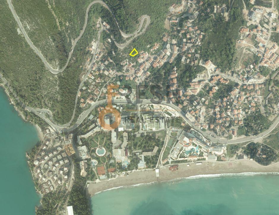 Plac, 524m2, Bećići, Budva, Ucrtan objekat BGP 1423m2, Prodaja - 2