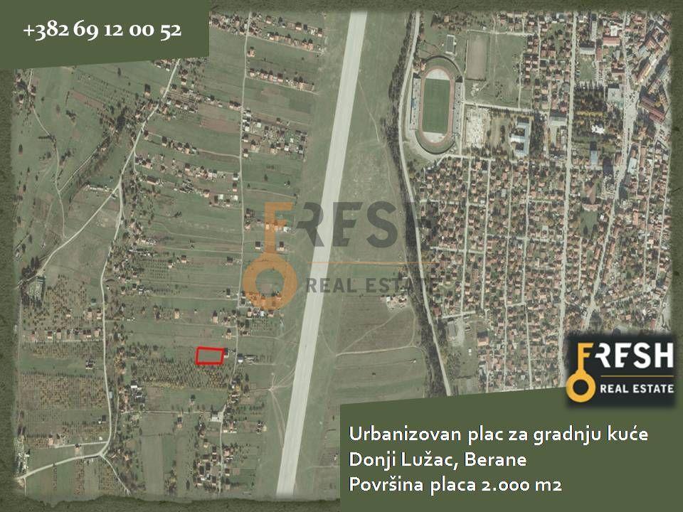 Urbanizovan plac za gradnju kuće, 2.000m2, Berane, Prodaja - 1