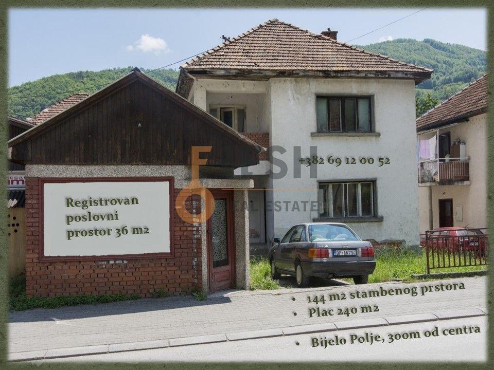 Kuća sa poslovnim prostorom, 144m2, Bijelo Polje, Centar, Prodaja - 1