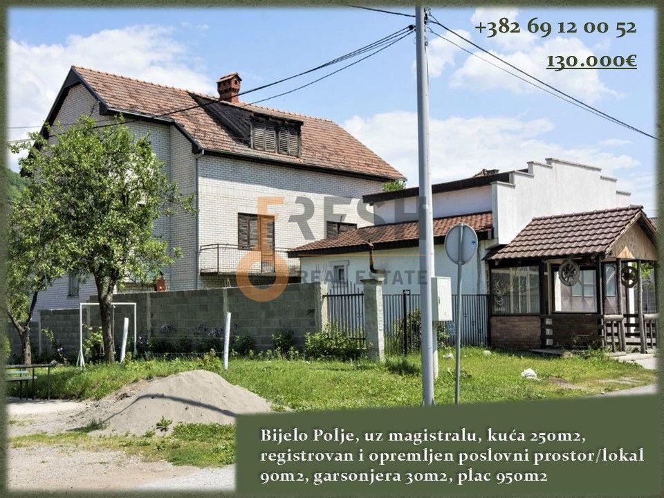 Kuća, 250m2 + poslovni 90m2, Bijelo Polje, Potkrajci, Prodaja - 1
