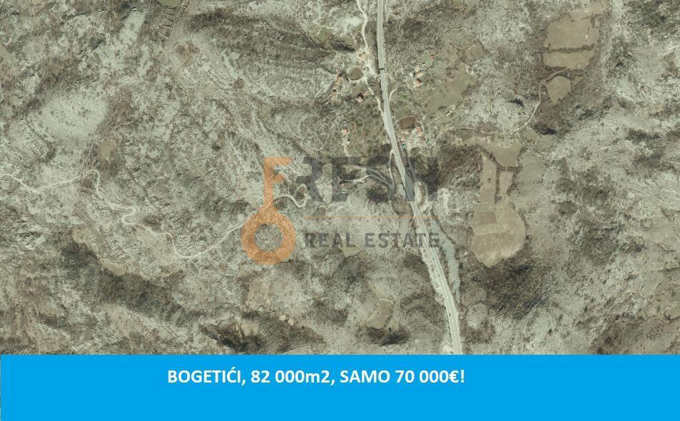 Plac, 82 000m2, Nikšić- Bogetići, Prodaja - 1