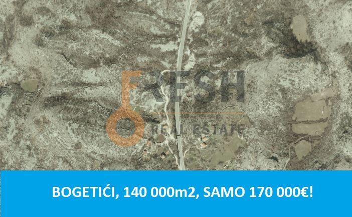 Plac, 140 000m2, Nikšić- Bogetići, Prodaja - 1