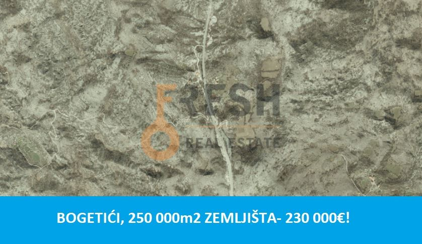 Plac, 250 000m2, Nikšić- Bogetići, Prodaja - 1