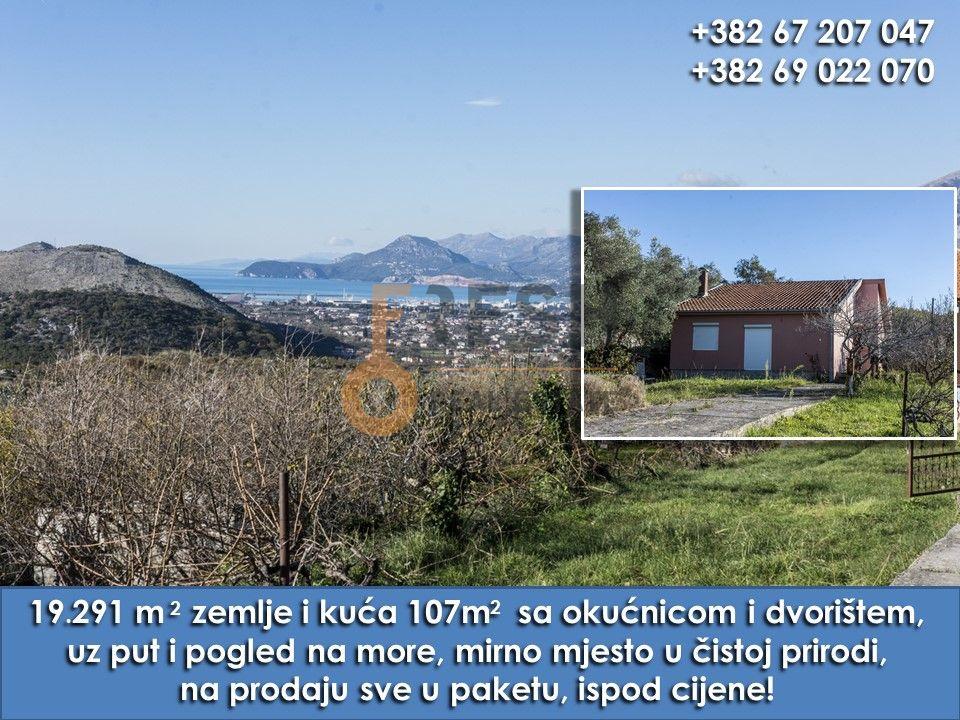 Imanje, 19 291m2 zemljišta + 107m2 kuća, Bar- Dobra Voda, Prodaja - 1