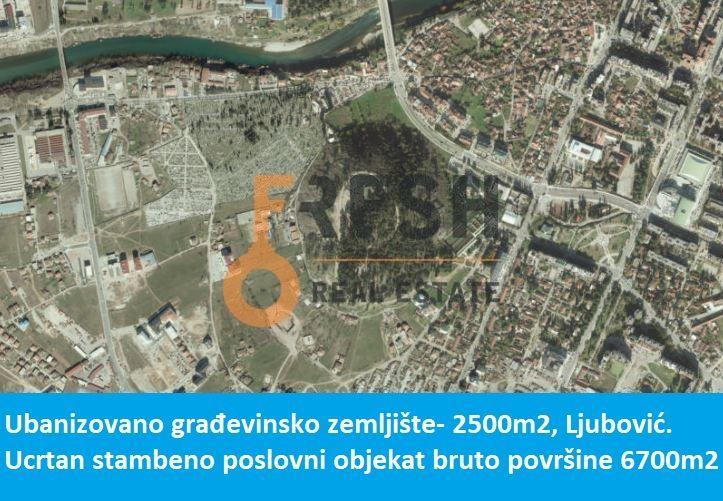 URBANIZOVANO GRAĐEVINSKO ZEMLJIŠTE, 2500M2, ZABJELO- LJUBOVIĆ, PRODAJA - 1