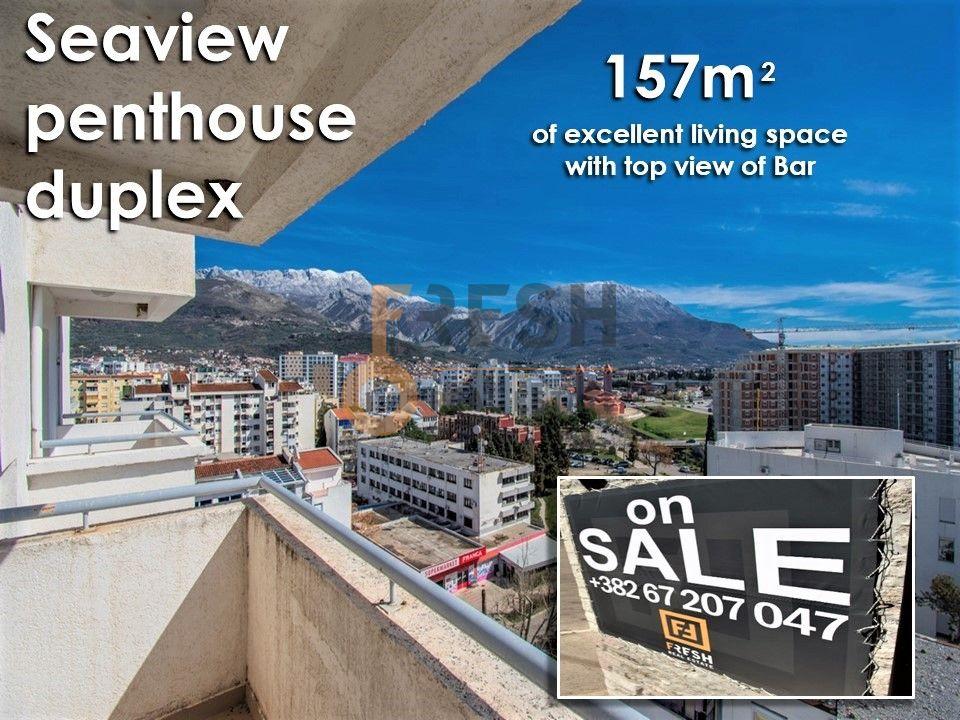 Penthaus duplex s pogledom na more, 157m2, Centar, Bar, Prodaja - 2
