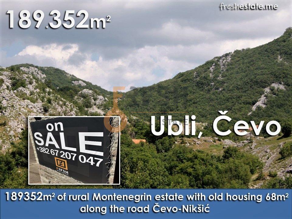 Seosko imanje, 189.352m2, Ubli, Čevo - 1