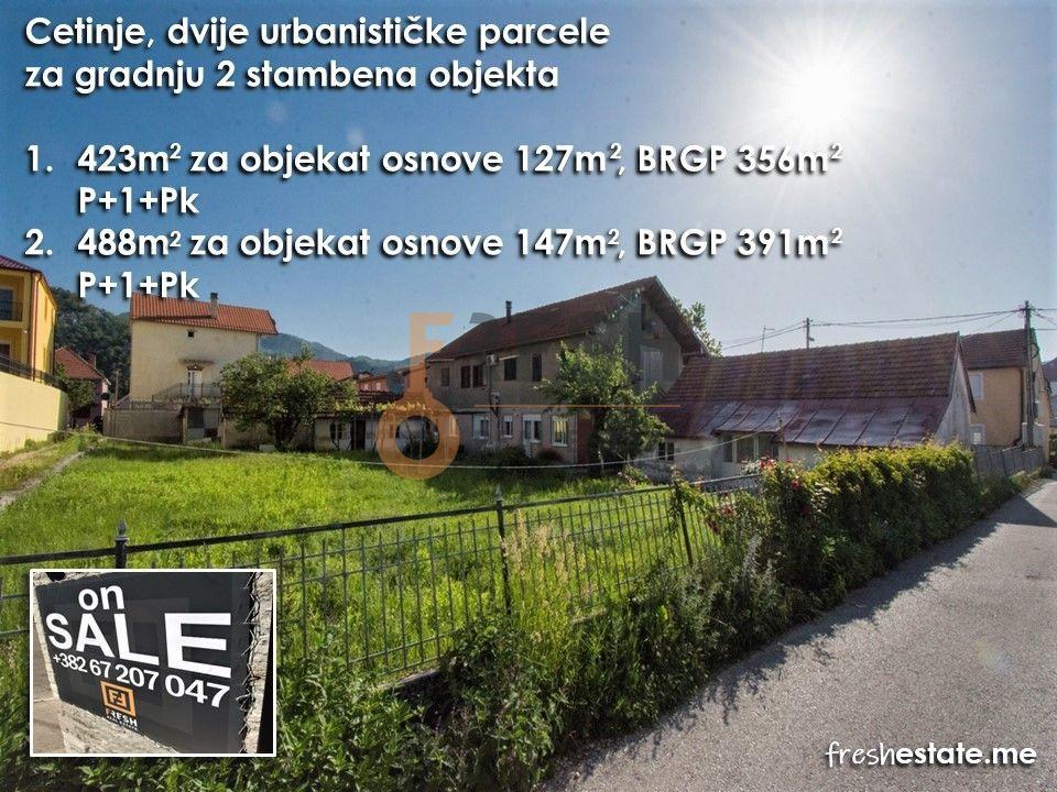 Dvije urbanističke parcele, + stara kuća na placu, Cetinje - 1
