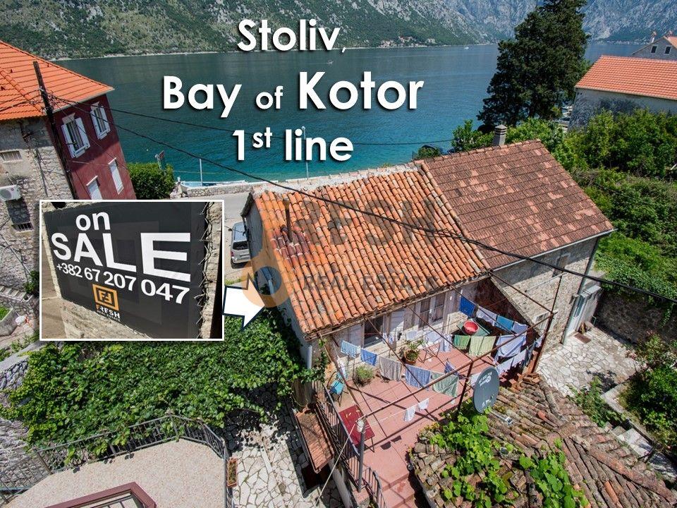 Dvije kuće na prvoj liniji sa velikim dvorištem, Stoliv, Prodaja - 1