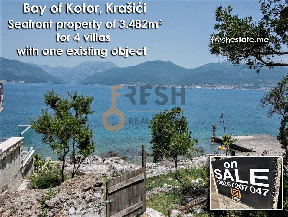 Krašići, zemljište za 4 vile i kuća na obali, Prodaja 1