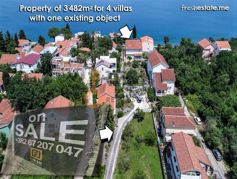 Krašići, zemljište za 4 vile i kuća na obali, Prodaja - 1