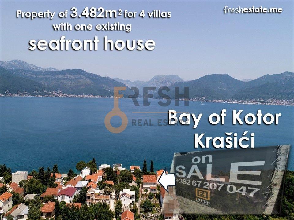 Krašići, zemljište za 4 vile i kuća na obali, Prodaja - 3