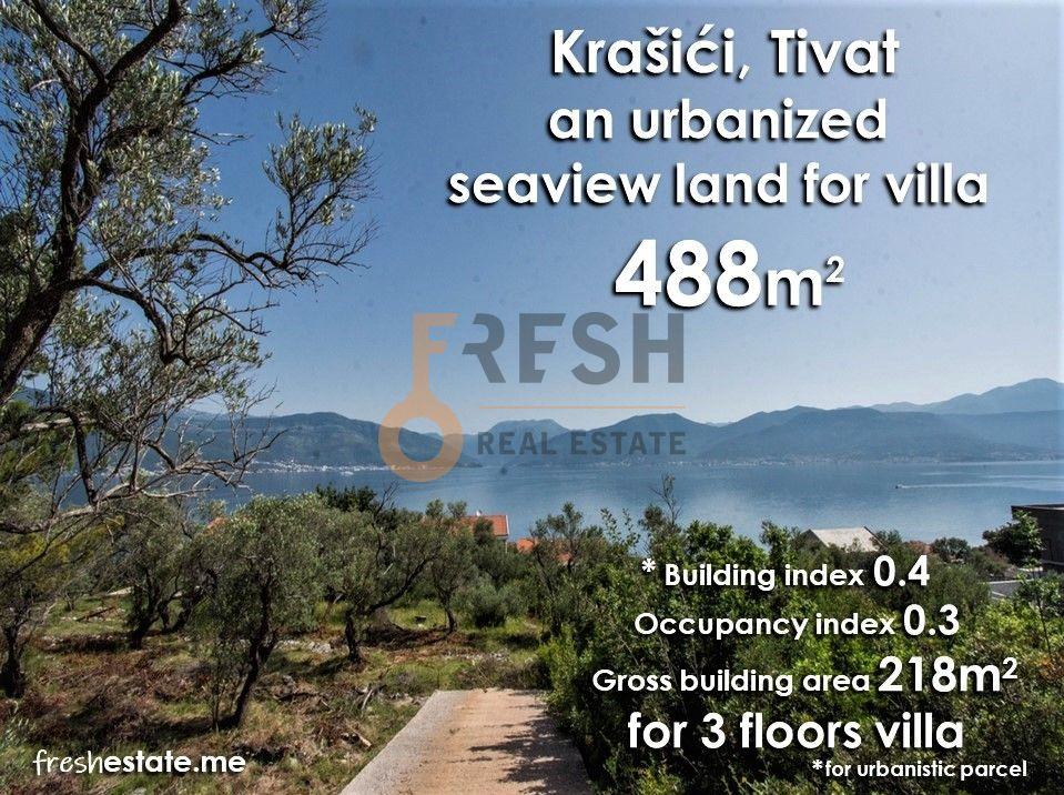 Plac za vilu, 488m2, Krašići, Tivat, Prodaja - 1