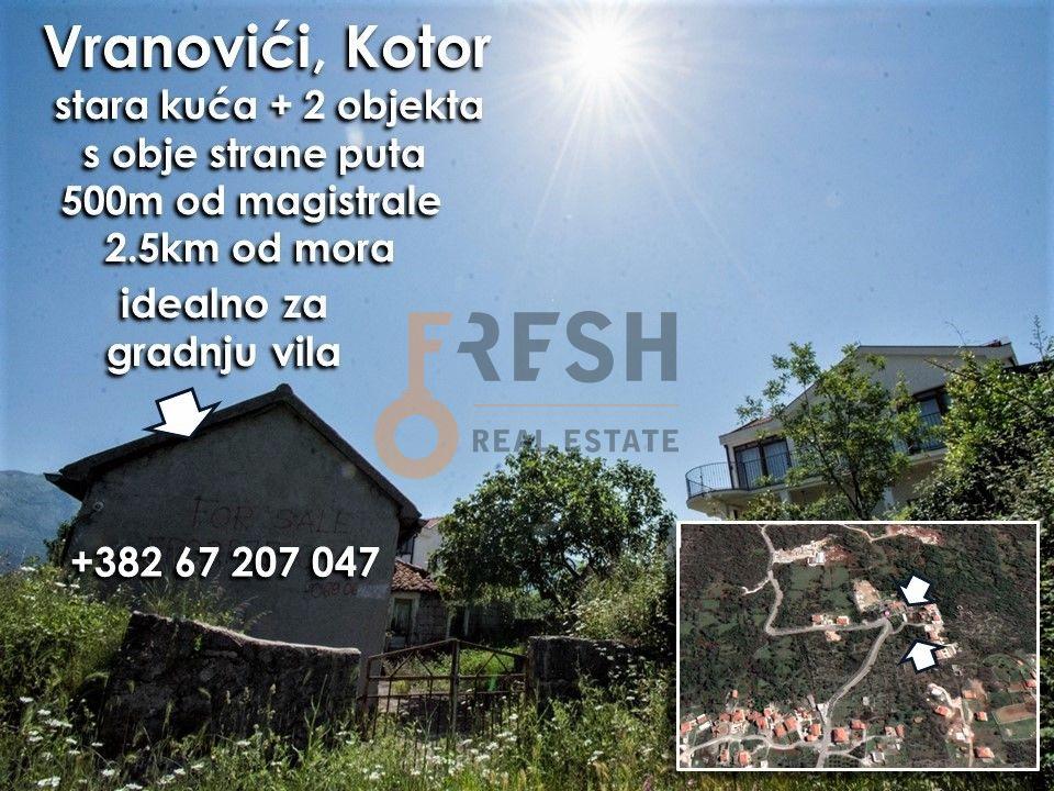 Stara kuća i zemljište, pogled na Tivat, na putu ka Bigovi, Prodaja - 1