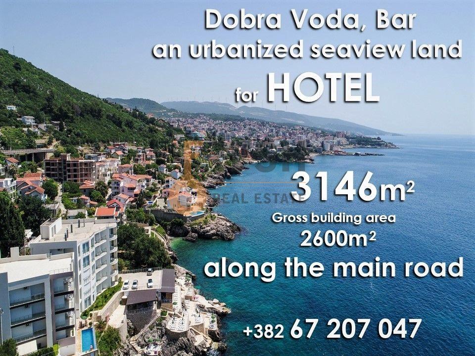 Urbanizovano građevinsko zemljište za hotel, Dobra Voda, Prodaja - 1
