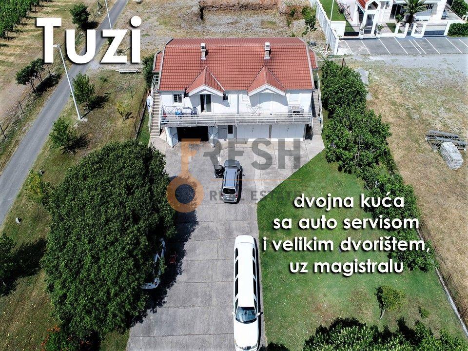 Kuća sa servisom za auta i velikim dvorištem, uz magistralu, Tuzi, Prodaja - 1