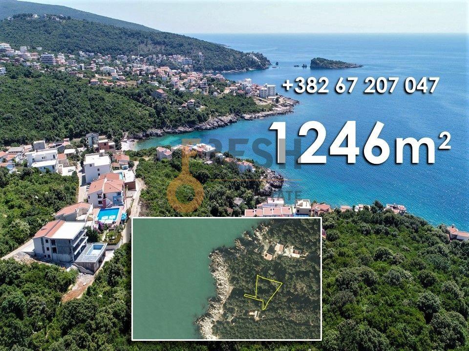 Plac 1246m2 za jednu ili dvije vile, 30m od mora, Utjeha, Bar, Prodaja - 1
