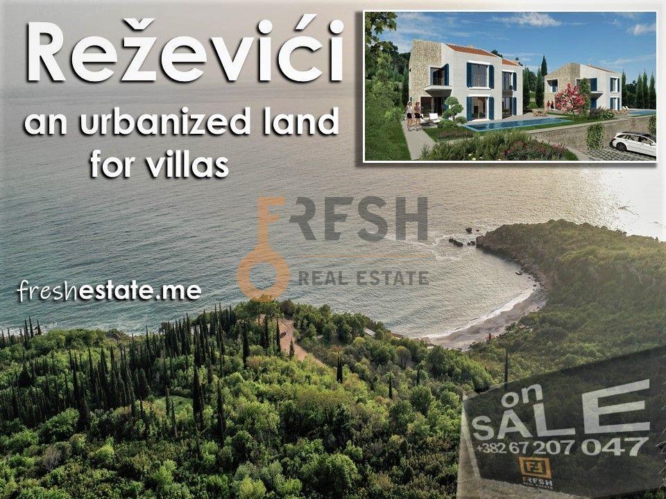 Reževići, urbanizovano zemljište za 4 vile, 3157m2,  ispod cijene! - 1