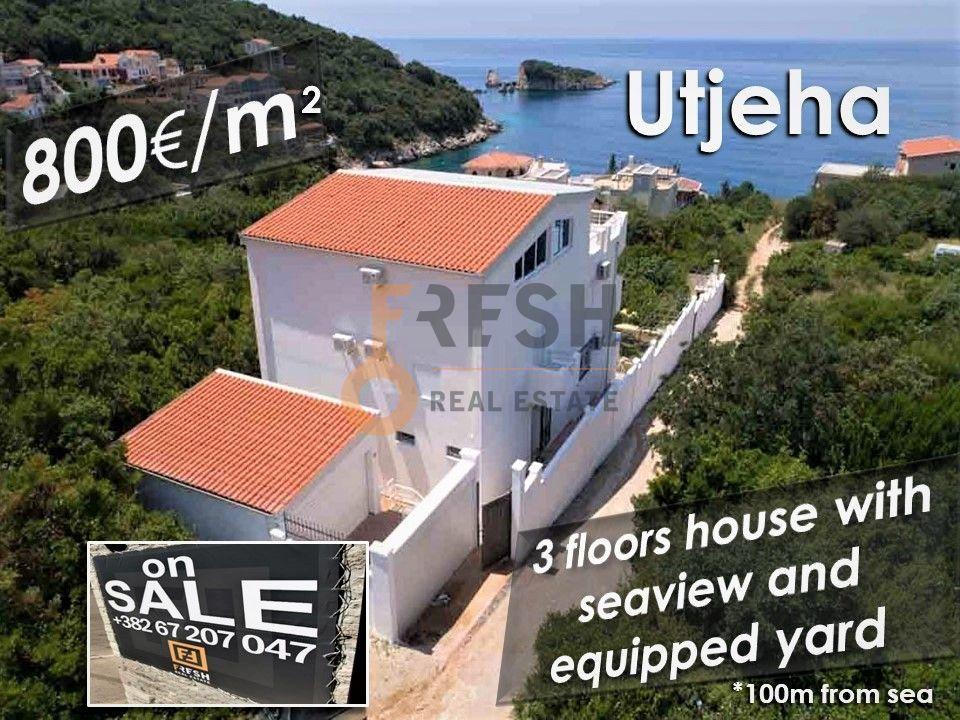 Vila na 100m od mora, 800e/m2, Utjeha - Bar, Prodaja - 1