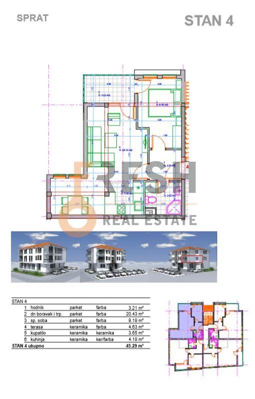 Jednosoban stan, 45.29m2, Konik, Prodaja - 4