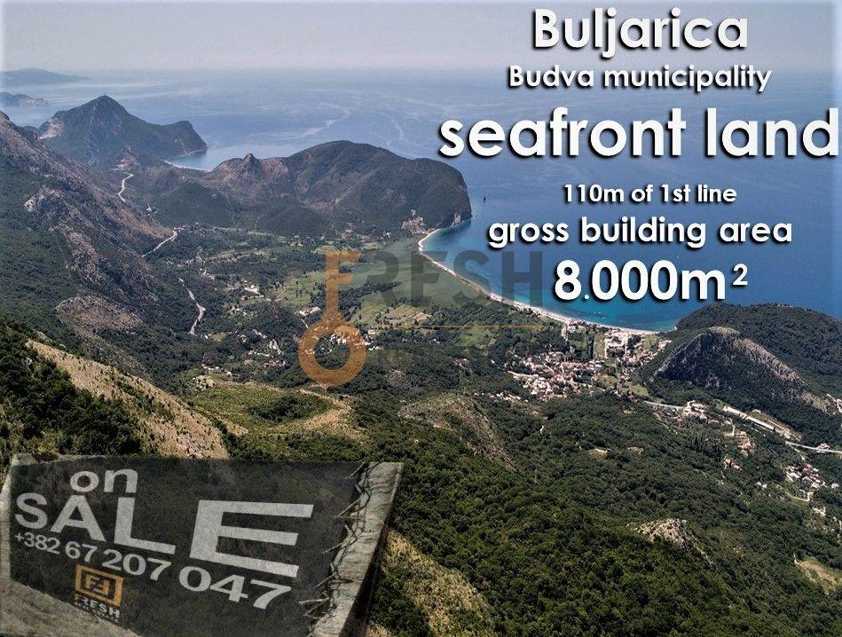 Urbanizovano građevinsko zemljište za gradnju bruto 8000m2 na prvoj liniji mora, Prodaja - 1