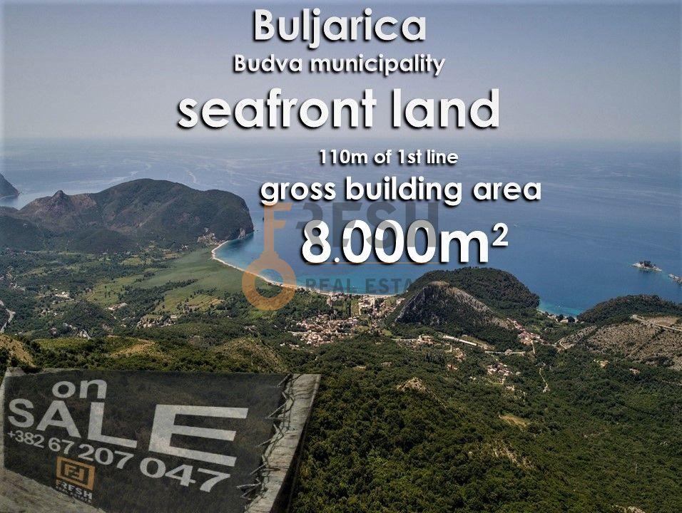 Urbanizovano građevinsko zemljište za gradnju bruto 8000m2 na prvoj liniji mora, Prodaja - 2