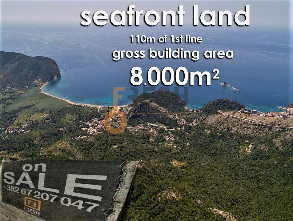 Urbanizovano građevinsko zemljište za gradnju bruto 8000m2 na prvoj liniji mora, Prodaja - 3