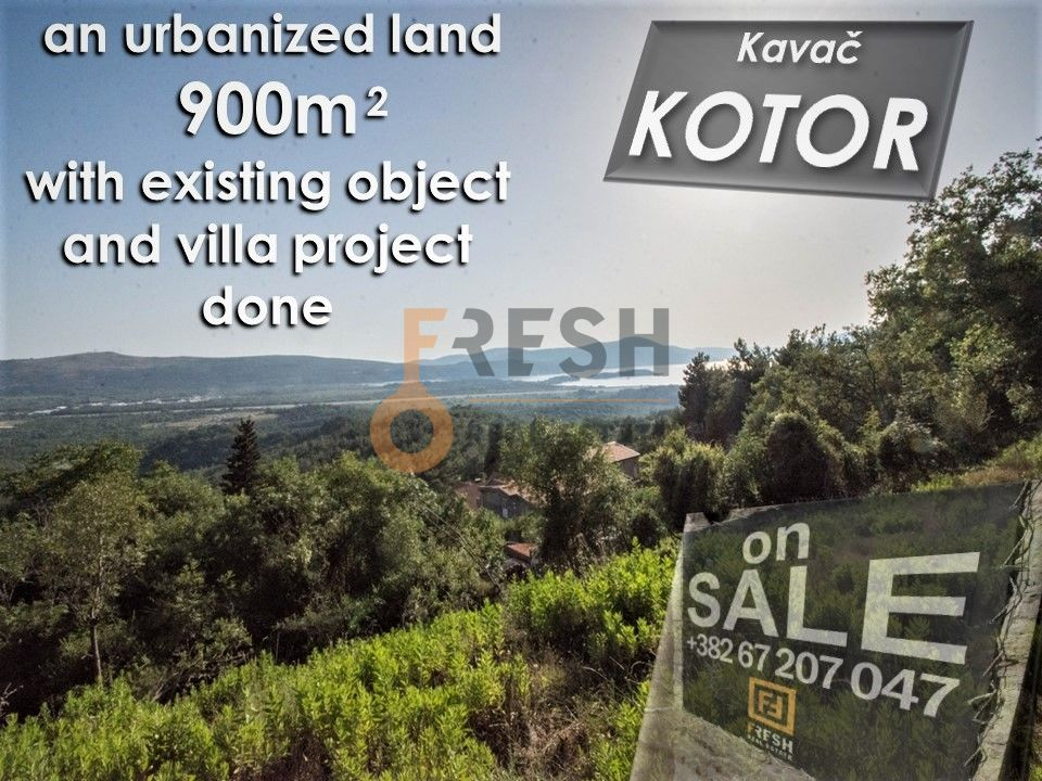 Urbanizovani plac za vilu, 900m2, Kavač, Kotor, Prodaja - 1