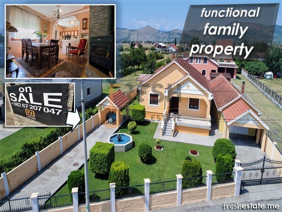 Porodični dom, dvije kuće 126+80m2, dvorište 750m2, Dahna, Podgorica - 1
