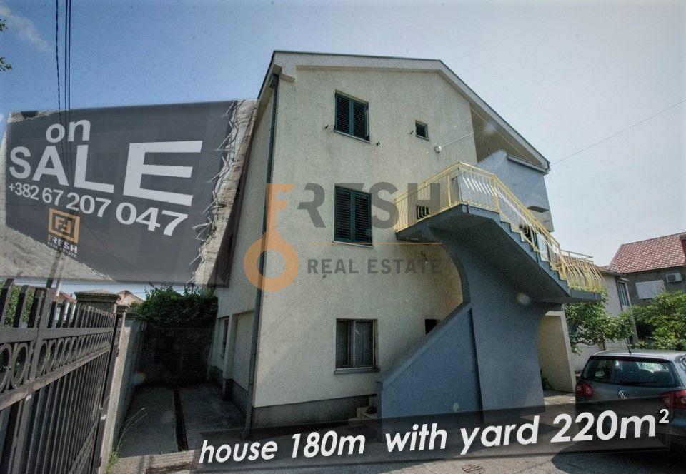 Troetažna kuća 180m2, dvorište 220m2, Masline, 5min. od centra Podgorice - 1
