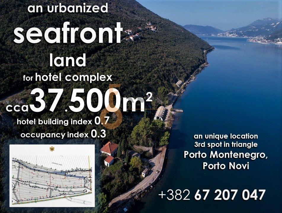 Urbanzovano građevinsko zemljište za gradnju hotela,  Krašići, unikatna lokacija prema Luštici, opština Tivat - 1