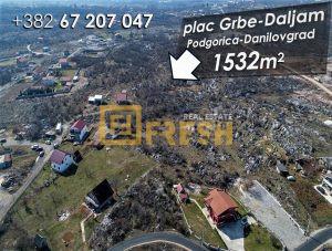 Plac, 1532m2, Grbe, Danilovgrad - 1