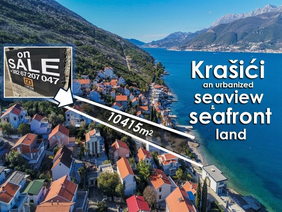 Urbanizovano zemljište i plaža, 10415m2, Krašići, Tivat 1