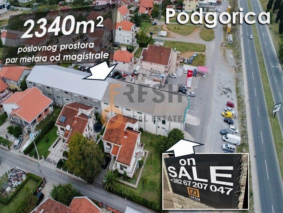 Poslovni prostor na par metara od magistrale, 2340m2, Zabjelo - 1