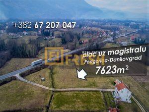 Plac, 7623m2, uz magistralu Podgorica-Danilovgrad, Prodaja - 1