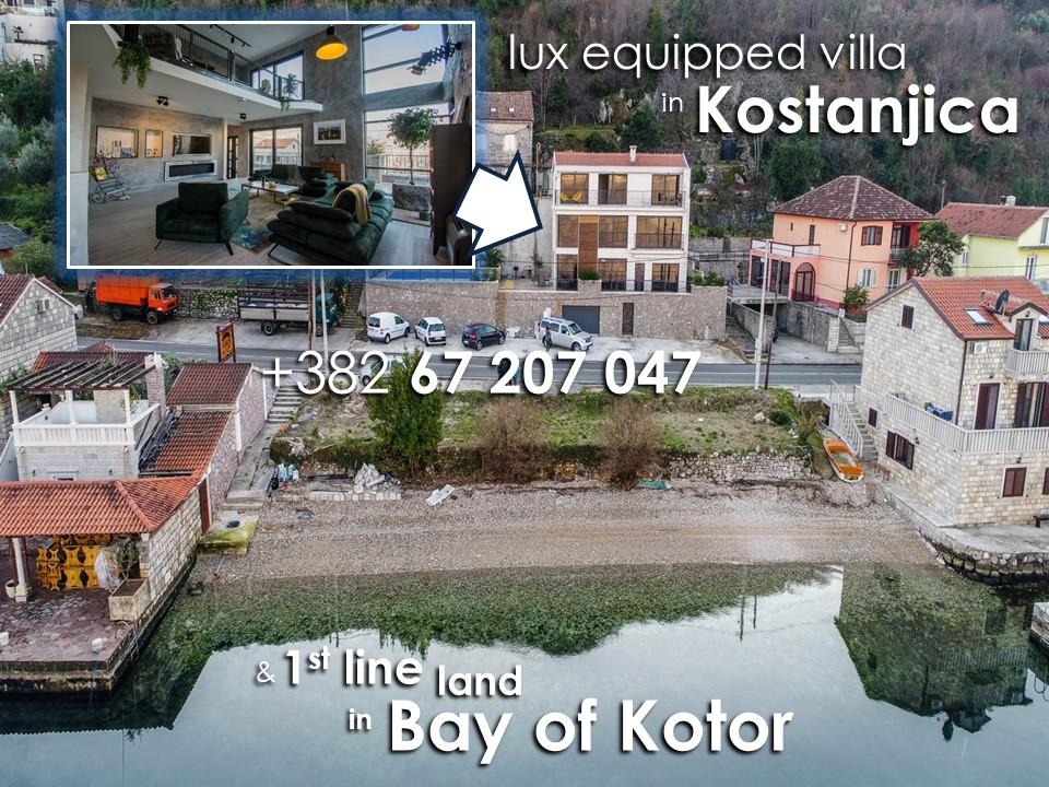 Plac uz more 289m2 + vila, Kostajnica, Kotor - 0