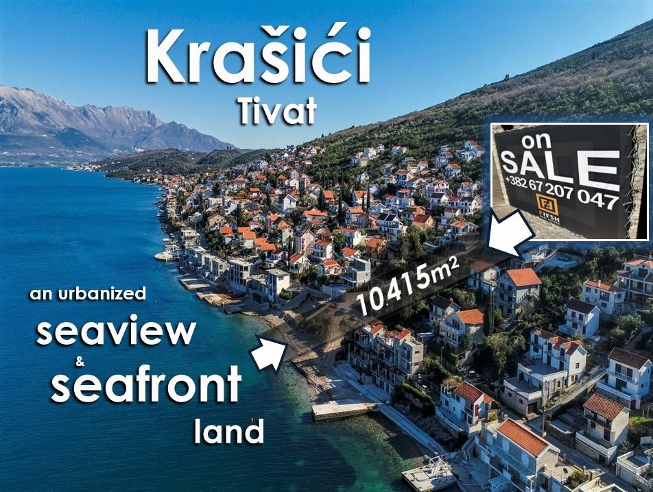 Urbanizovano zemljište i plaža, 10415m2, Krašići, Tivat - 0