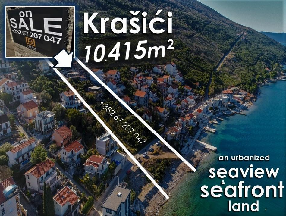 Urbanizovano zemljište i plaža, 10415m2, Krašići, Tivat - 3