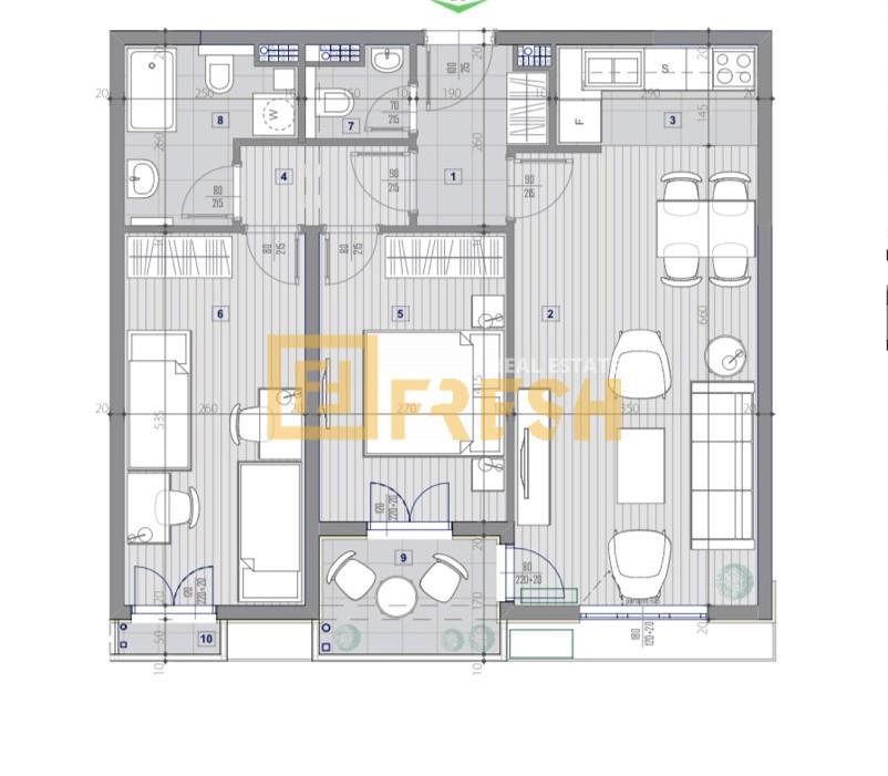 Dvosoban stan, 70m2, Central Point, Prodaja - 0