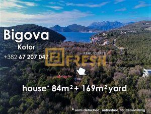 Ruševna kuća i plac, Bigova, Kotor, Prodaja - 1