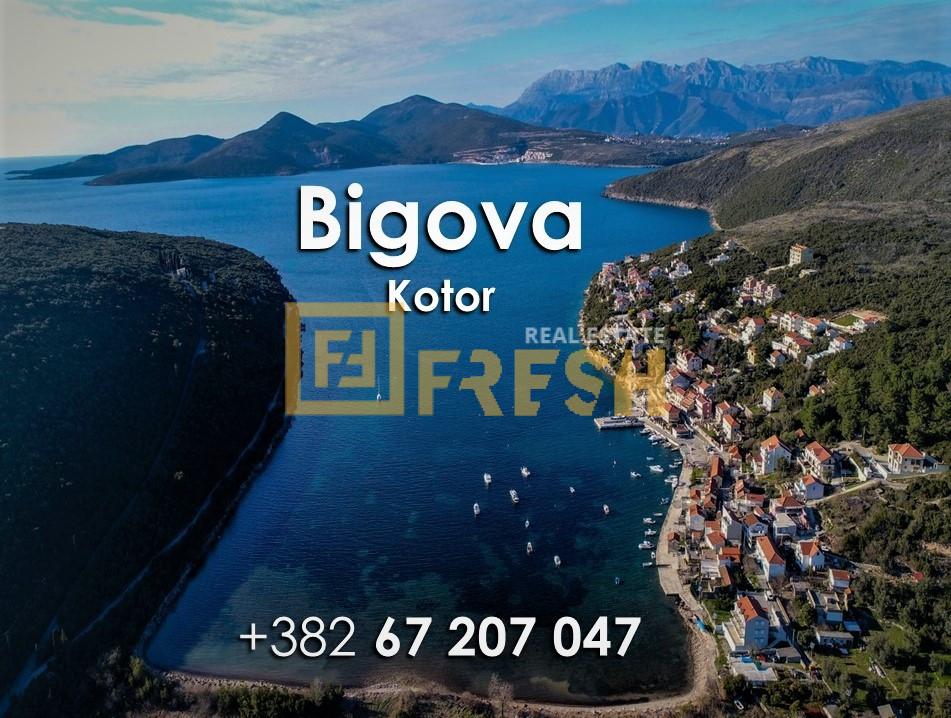 Ruševna kuća i plac, Bigova, Kotor, Prodaja - 0