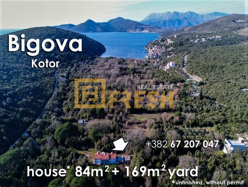 Ruševna kuća i plac, Bigova, Kotor, Prodaja - 2
