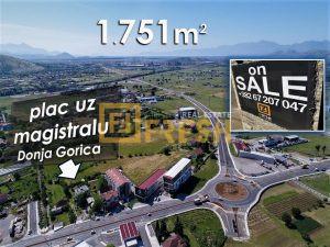 Plac uz magistralu, 1751m2, Donja Gorica, Prodaja - 1
