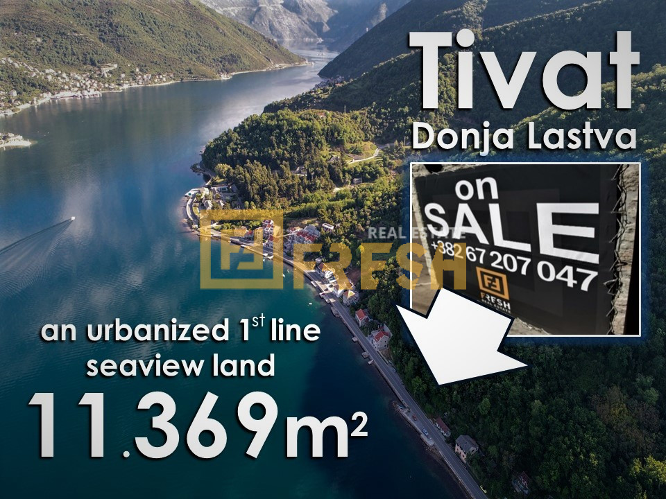 Urbanizovano građevinsko zemljište, 11.369m2, Tivat, Prodaja - 2