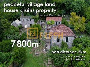 Imanje, kuća, ruševina, more na 2km - 1