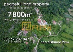 Zemljište, kuće, ruševine, more na 2km - 1