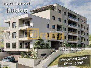 Jednosoban stan, 43m2, Budva, Prodaja - 1