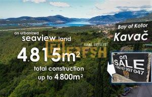 Kavač, Kotor, Urbanizovano zemljište 4815m2 - 1