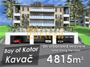 Urbanizovano zemljište, 4815m2, Kavač-Kotor - 1