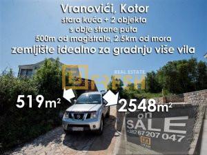 Stara kuća i plac, Vranovići, Kotor - 1